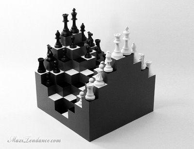 Ji Lee 3D Chess Board : Spectaculaire Jeu dEchec