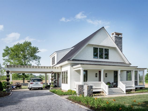 love the portico (sp?) to the side, this could be a nice addition once the kitchen is rebuilt At Home with Luke Bryan - Nashville Lifestyles