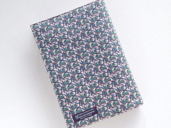 リバティ ビジネス書 ブックカバー コットンテイル グリーン