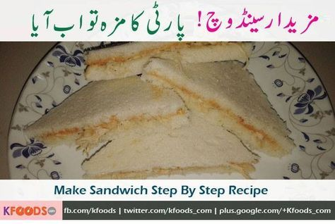 Chicken Sandwich Recipe Step by Step in Urdu & English