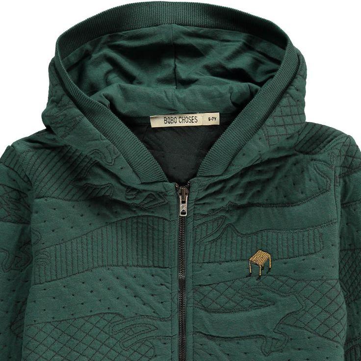 Bobo Choses Textured Zip-Up Table Hooded Sweatshirt-product