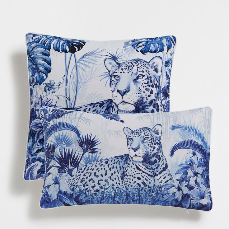 Image 1 of the product Leopard print cotton cushion cover