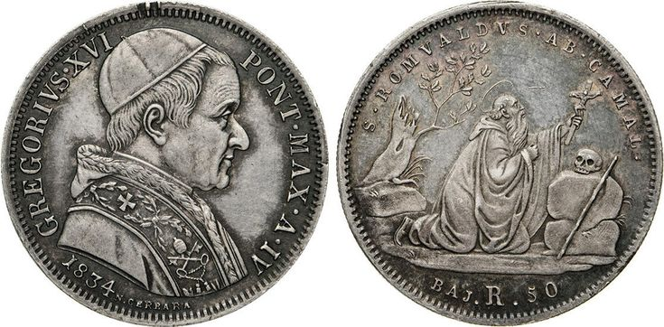 NumisBids: Numismatica Varesi s.a.s. Auction 65, Lot 847 : GREGORIO XVI (1831-1846) 50 Baiocchi 1834 IV, Roma. Pag. 217 Ag...