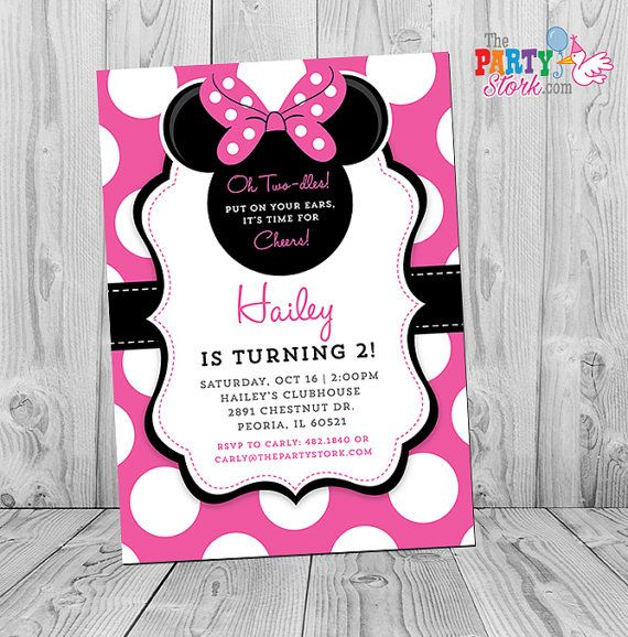 16 best Minnie Mouse Birthday Invitations images – What to Put on a Birthday Invitation