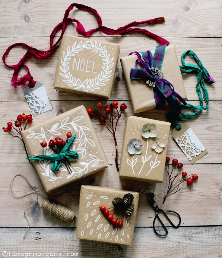 DIY Christmas Brown Paper Gift Wrap - The Villa on Mount Pleasant