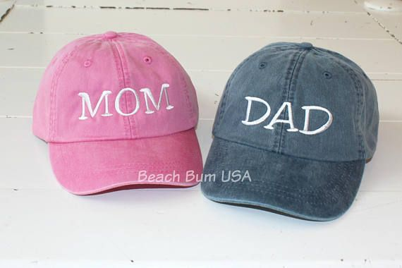 Embroidered Dad Hat Customized Handmade Mothers Day Pregnant Baseball Cap
