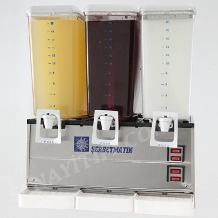 Üçlü Şerbetlik Ayran Limonata Makinası » şerbetlik ayranlık - Sanayi tipi