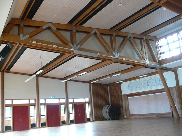 Tuhoe Living Building, Engineered Glulam trusses and purlins