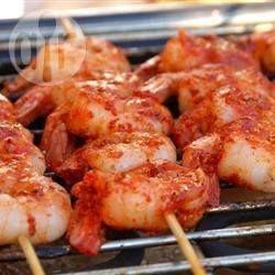 Pittige garnalen van de barbecue @ allrecipes.nl