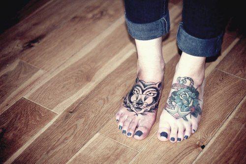 cute foot tattoos