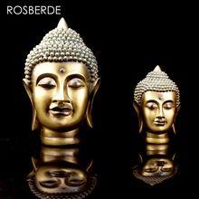 Rosberde india estatua de buda cabeza de resina decoración del hogar escultura estatua home garden decoración yoga escultura decoración salón(China (Mainland))
