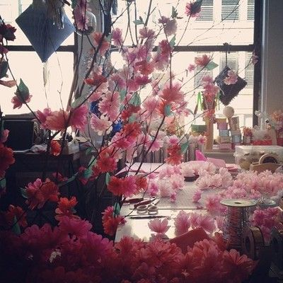Making cherry blossom branches today!