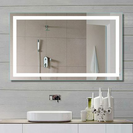 TYPE: Illuminated Mirror SHAPE: Rectangle SIZE: 40 x 24 x 2 DESCRIPTION - Sensor switch and defogger - 1900 Lumens - 110 V wiring - Approx 120,000 Hours Lifetime - Complete UL and cUL Certification -