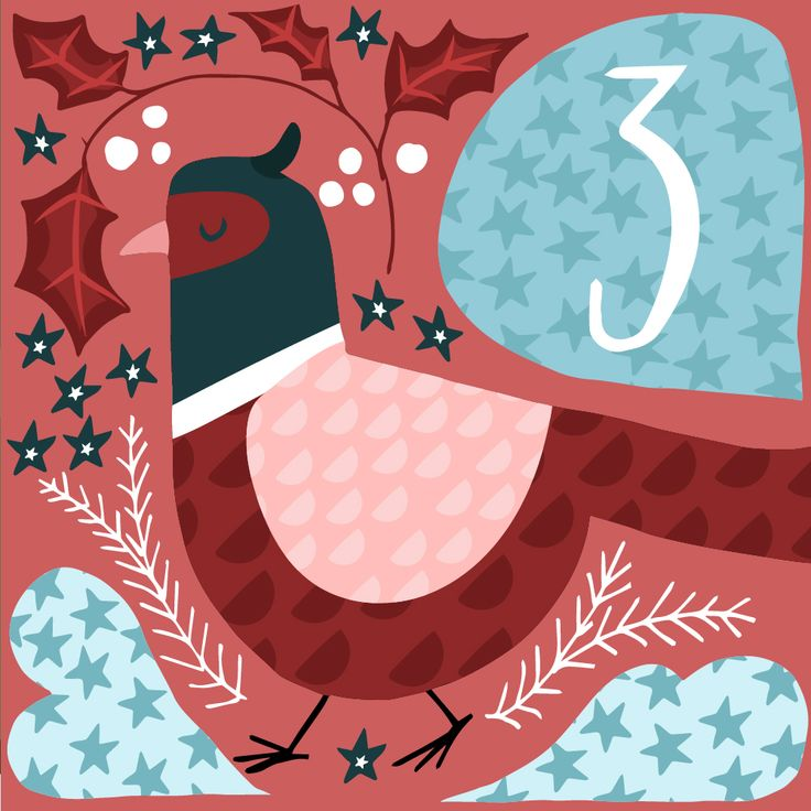 Illustrated advent calendar day 1 www.studiobrun.nl