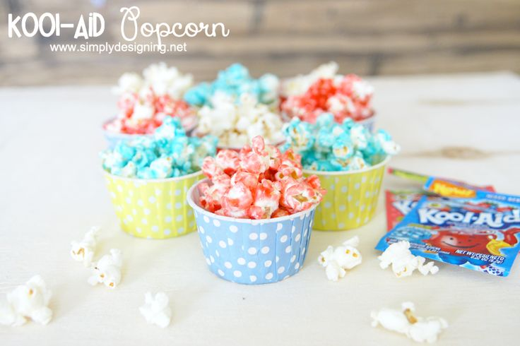 Kool-Aid Candied Popcorn | A fun, tasty and colorful twist on caramel popcorn!  This is super simple to make too!  Must pin for later! | #po...