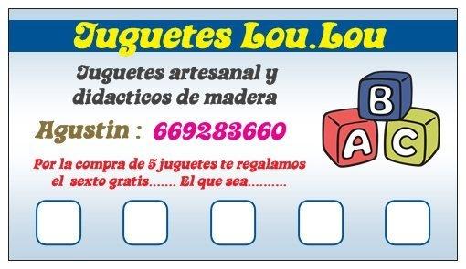 lista clientes con tarjeta de fidelidad / JUGUETES LOU.LOU - Artesanio