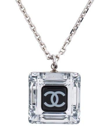 #Valentines #AdoreWe #The RealReal - #Chanel Chanel Resin & Glass Pendant Necklace - AdoreWe.com