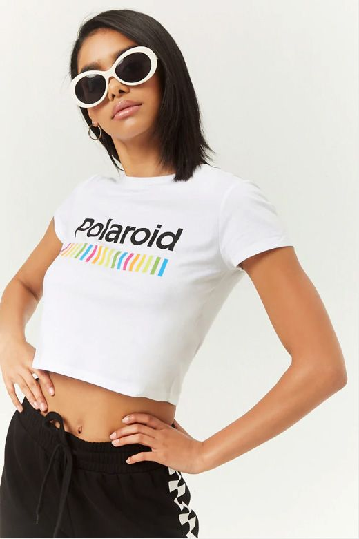 1c829fb38e2 Polaroid Cropped Tee in 2019 | Style | Fashion, Tops, Forever 21