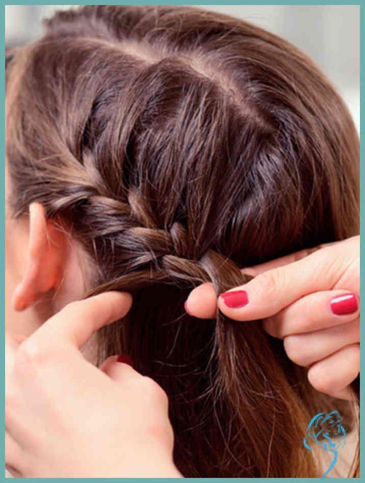 Kurze Haare flechten: Frisuren mit Anleitung | Damen Frisuren – Damen Frisuren – #Anleitung #Damen #Flechten #Frisuren #Haare –  –