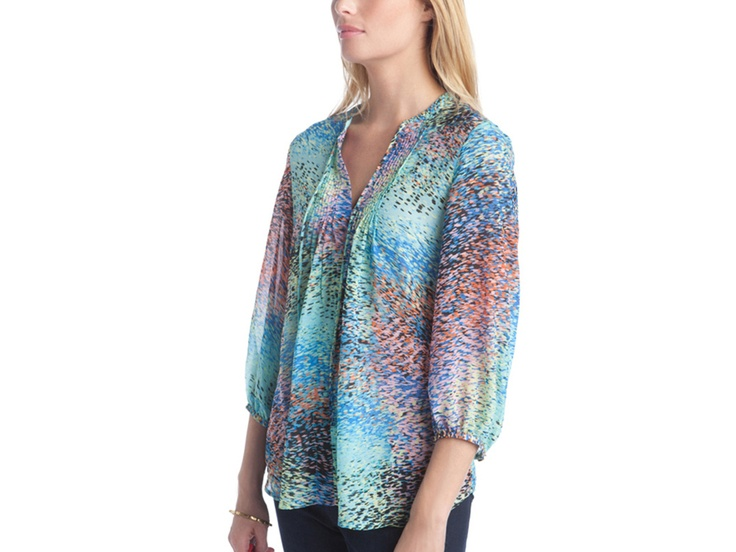Beautiful top! Love the colors!: Shoes, Beautiful Tops, Clothing Ideas, Stephanie Tops, Prints Tops, Fashion Hair, Comfy Clothing, Hair Accessories, Mature Fashion