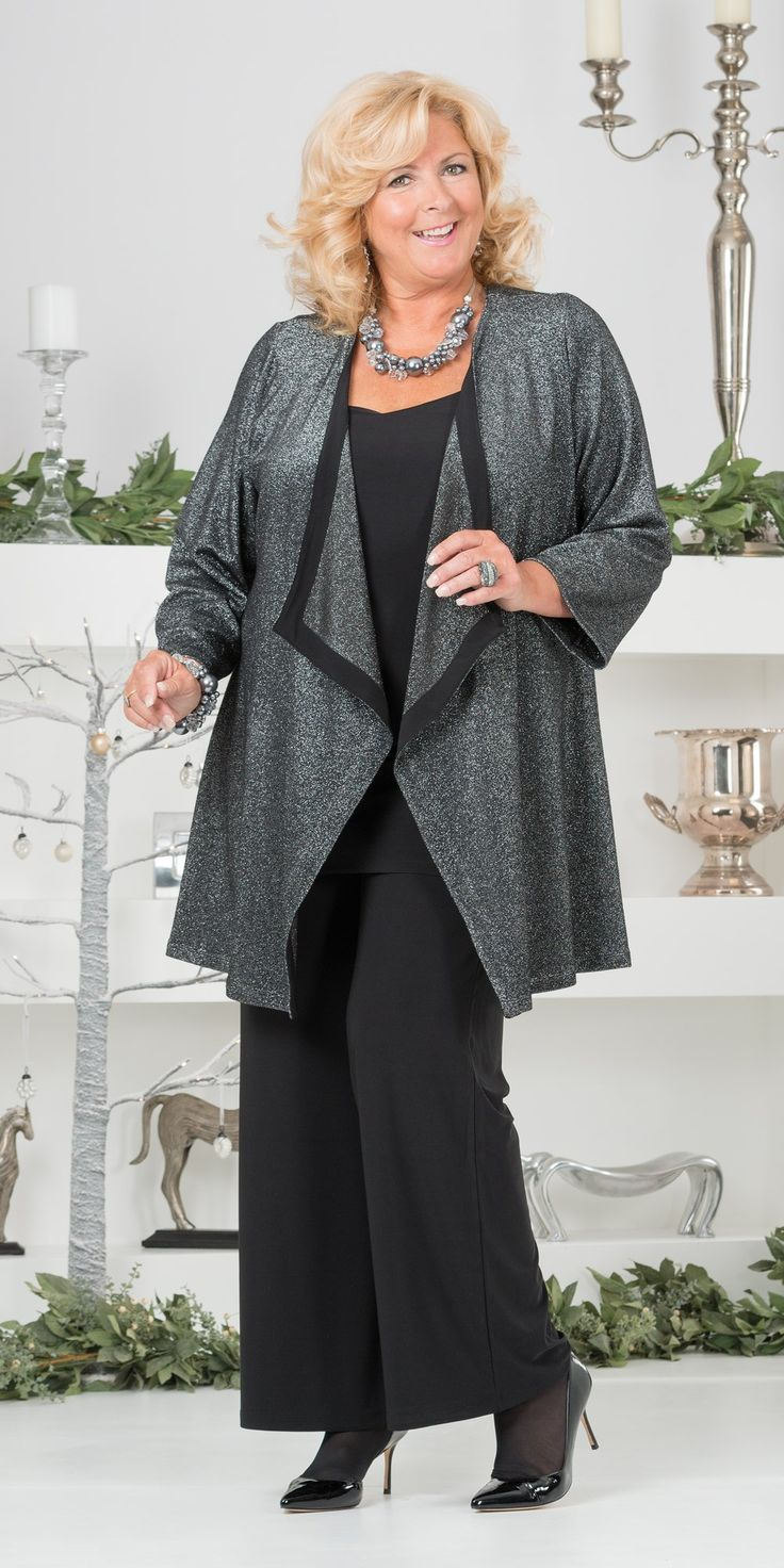Kasbah silver lurex waterfall jacket, vest and trouser