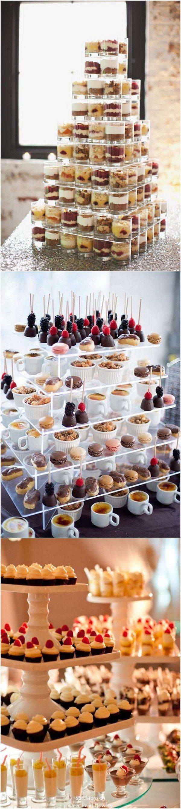 mini wedding dessert ideas / http://www.deerpearlflowers.com/wedding-mini-desserts/