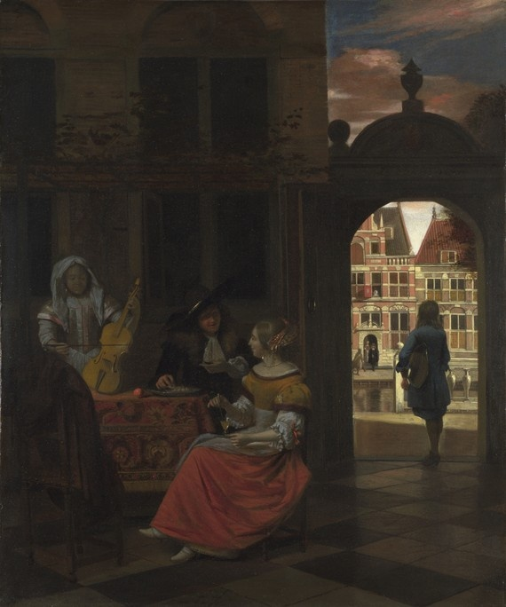 A Musical Party in a Courtyard (1677) by Pieter de Hooch. National Gallery.
