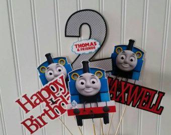 Thomas el tren pastel de cumpleaños el cumpleaños por PaperedAffair