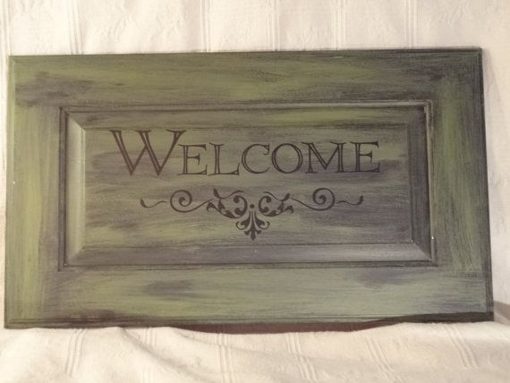 Home Decor Repurposed Cabinet Door by cabinfeverllc on Etsy, $42.00