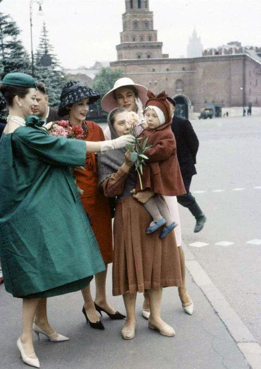 Christian Dior fashion shoot in Soviet Russia in the late 1950s / early 1960s - Life Magazine