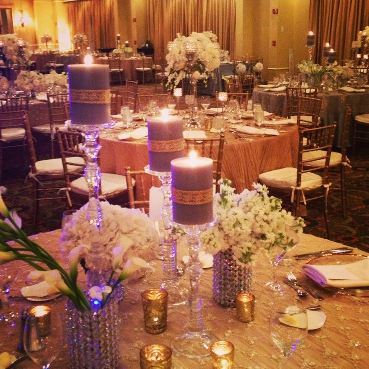 Elegant Table Decorations for Party | Elegant table design by Detailz Events, Inc