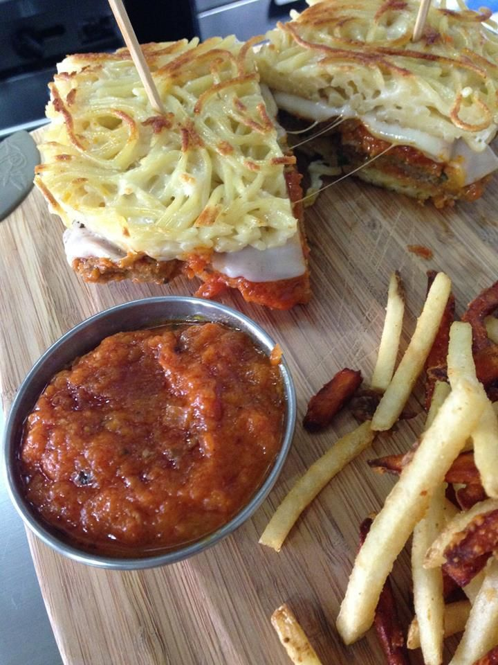 The Carving Board -- Spaghetti & Meatball Sandwich!!!