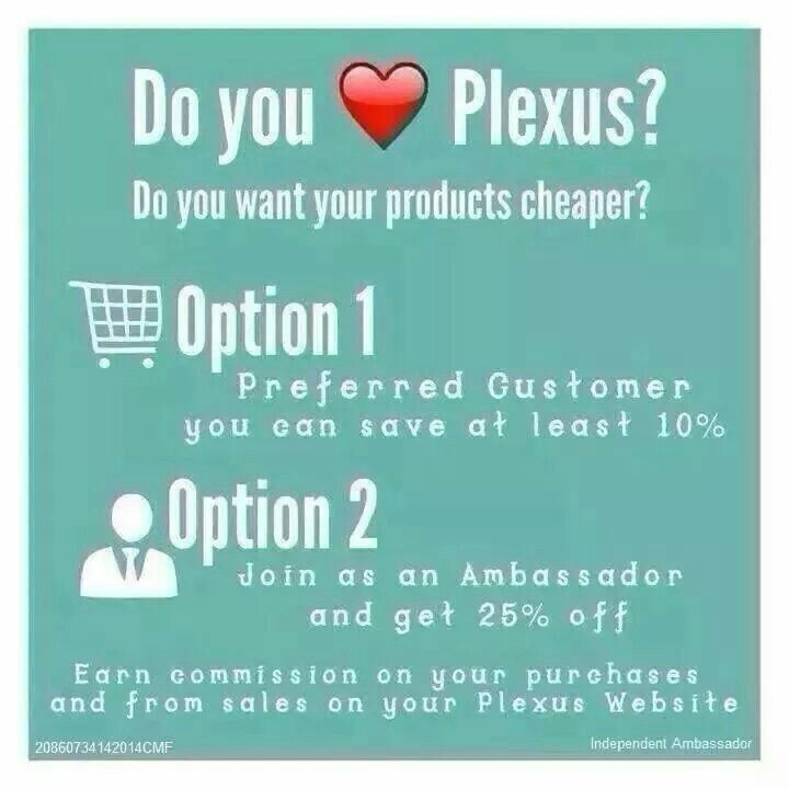 I am so happy I signed up. Get healthy with me! I Love my Plexus Products.