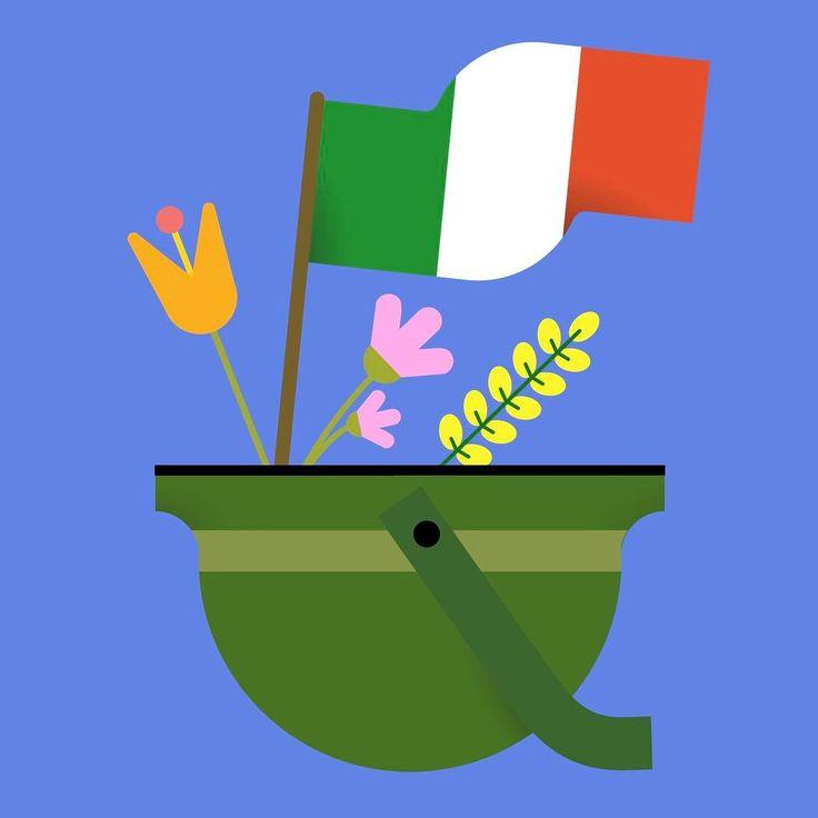 """32 Likes, 2 Comments - Magda Azab - Illustrator (@magdaazab) on Instagram: """"🇮🇹Cara mia Italia, oggi festeggio la tua liberazione, senza dimenticarmi di quanto sia preziosa la…"""""""