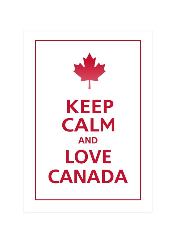 Keep Calm and LOVE CANADA Print 5X7 White with by PosterPop, 7.95