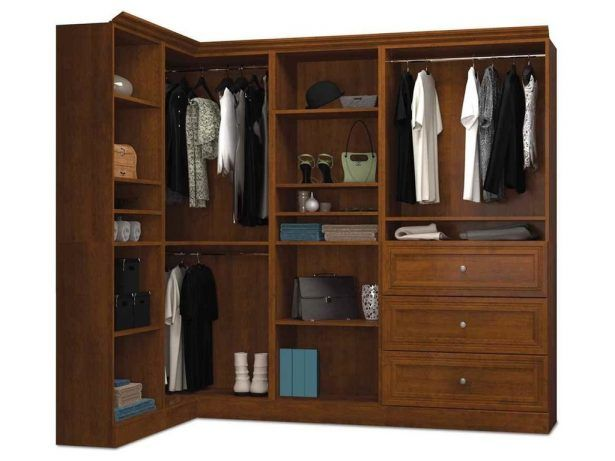 Brown Contemporary Corner Wardrobe In Tuscany Brown Finish W 0 D 0 H 0 30  Bedroom