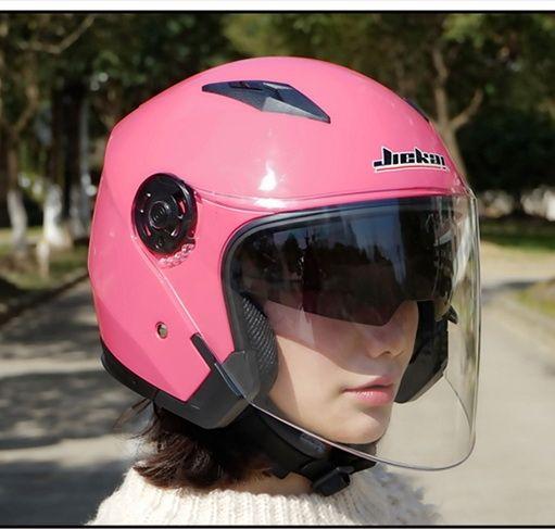 40.1$  Buy here - Dual lens women pink motorcycle helmet JIEKAI JK512 electric bicycle motorbike helmets Seasons of ABS10 Colors   #buyonline