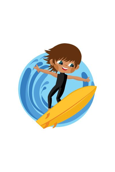 Kid Surfing Vector Image #surfing #vector http://www.vectorvice.com/kids-activities-vector