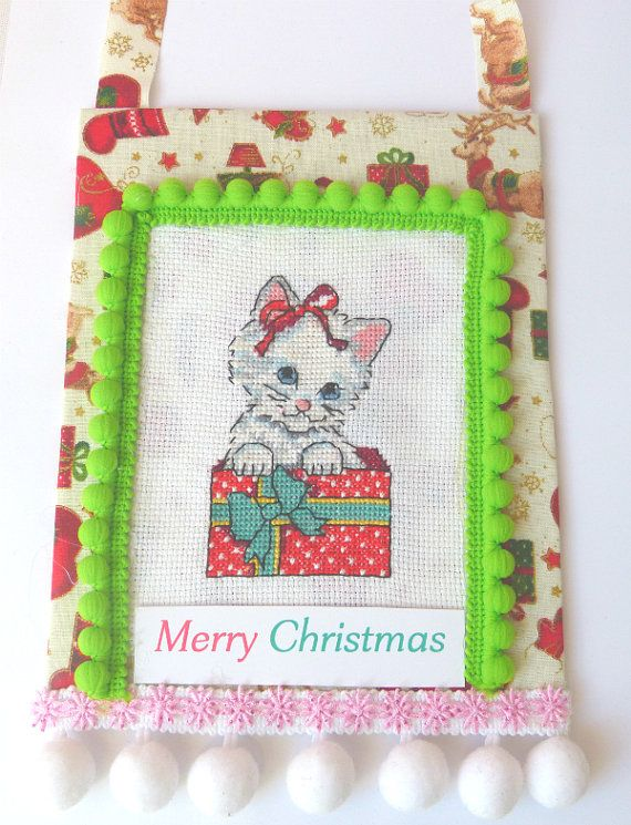 Cat gift Little Cat Christmas Ornament by CrossStitchElizabeth