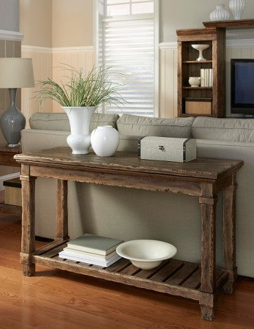 kincaid stonewater tall dining table. add a bottom shelf to console table for height kincaid stonewater tall dining k