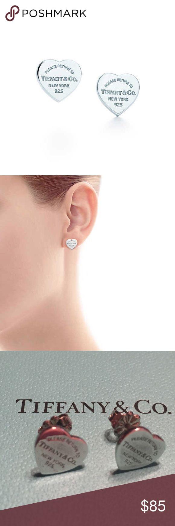 Tiffany Co Return To Mini Heart Earring Pair Of Clic Tag Earrings