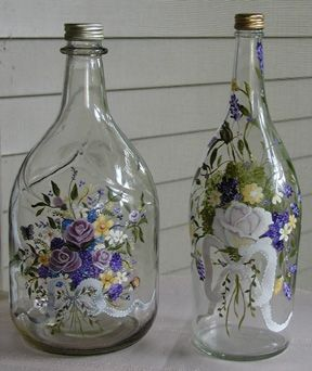 Examples Of Painted Wine Bottles