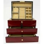 Magnifique boîte à bijoux Berlin en bois précieux (Teck) / Collection Prestige.