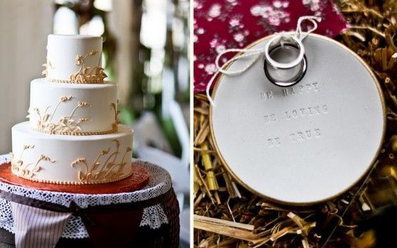 My other half is German and wheat is the German sign of luck, so this wedding cake really makes me smile!