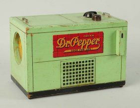 1940s Wooden Dr. Pepper Cooler Radio.