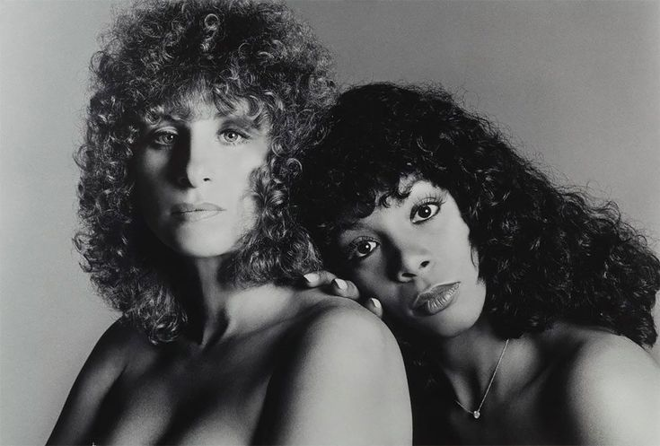 Barbra Streisand and Donna Summer [Extraordinary Vintage Celebrity Portraits Taken By Francesco Scavullo]