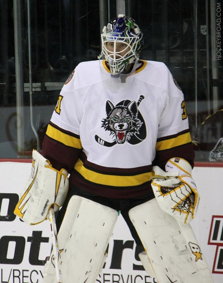 Chicago Wolves #31 Eddy Lack
