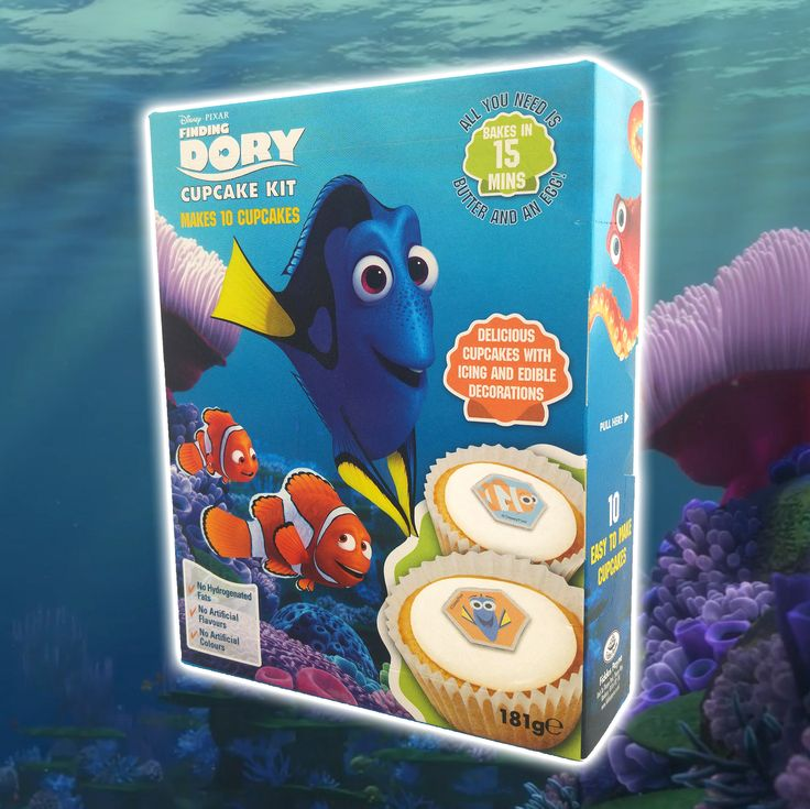 Cupcake, Decoration and Finding dory on Pinterest