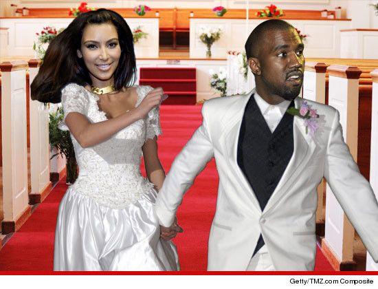 Kim Kardashian, Kanye West — In a BIG Hurry to Get Married