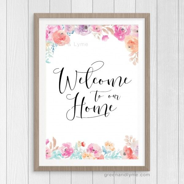 Gorgeous!    Welcome to Our Home Art Print: Free Printable